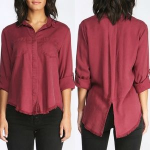 3 for $25- Velvet Heart Riley Frayed Hem Top